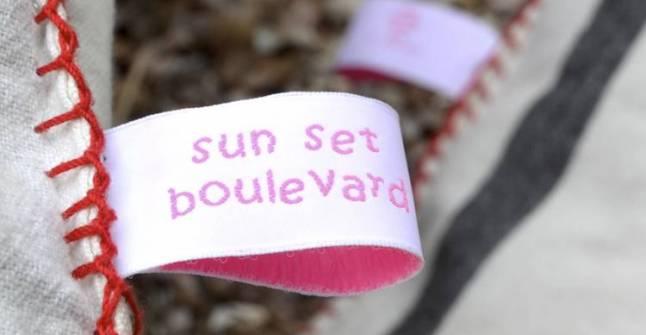 50 Namensetiketten f Kleidung Aufbügeln Einbügeln Etikett  rosa  Blanko
